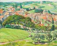 Robert Bruce, Village in Provence, 1935-39 oil on canvas, 21 x 25 (courtesy of Soul Gallery, Winnipeg)